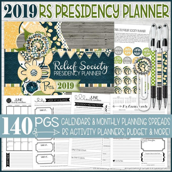 2019 Relief Society Planner PRINTABLE-My Computer is My Canvas