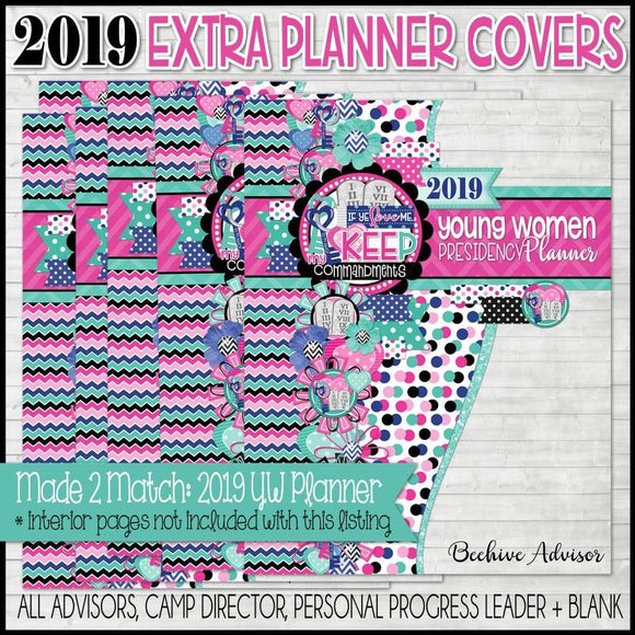 2019 YW Presidency Planner {Extra Advisor/Leader Covers} PRINTABLE-My Computer is My Canvas