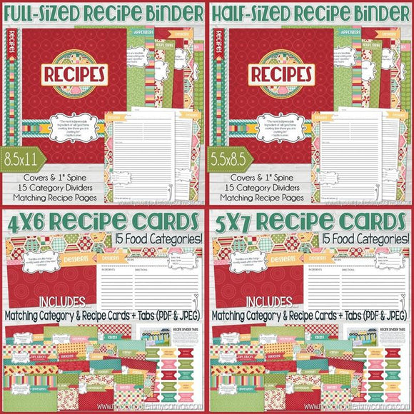 Recipe Collection RED Edition {Discounted Bundle}-My Computer is My Canvas