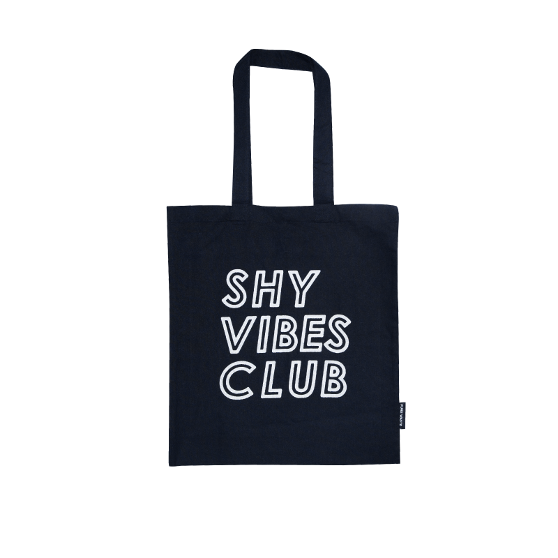 Shy Vibes Club reflective tote bag