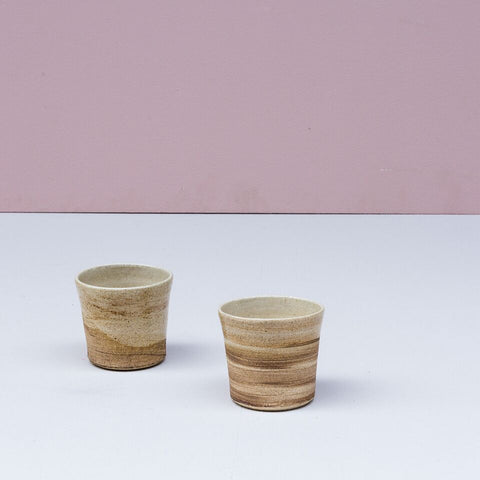 Currumbin Valley Ceramics | Cream and Earth Brown Bellied Vessel
