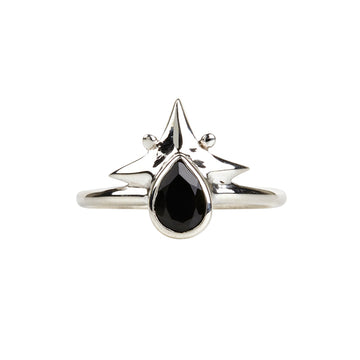 Little Star Ring || Silver & Black Onyx
