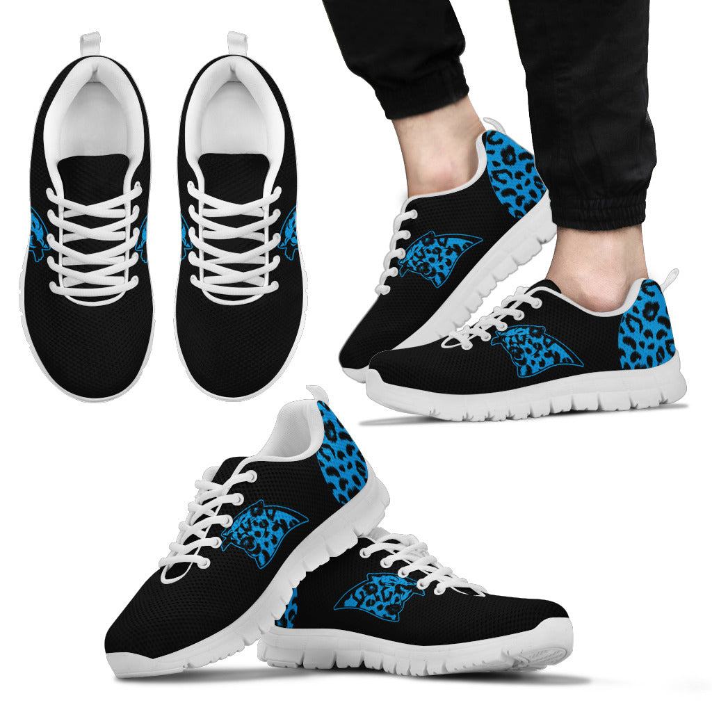 Cheetah Pattern Fabulous Carolina Panthers Sneakers