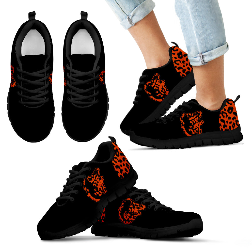 Cheetah Pattern Fabulous Baltimore Orioles Sneakers