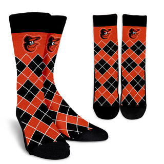 Gorgeous Baltimore Orioles Argyle Socks