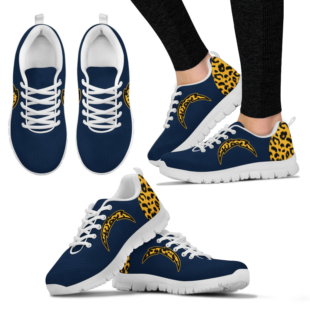 Cheetah Pattern Fabulous Los Angeles Chargers Sneakers