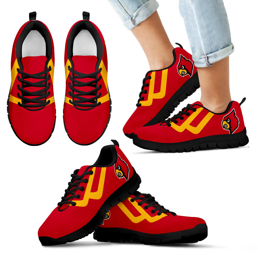 Line Bottom Straight Louisville Cardinals Sneakers