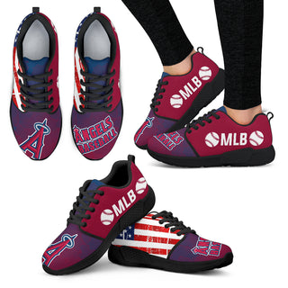 Simple Fashion Los Angeles Angels Shoes Athletic Sneakers