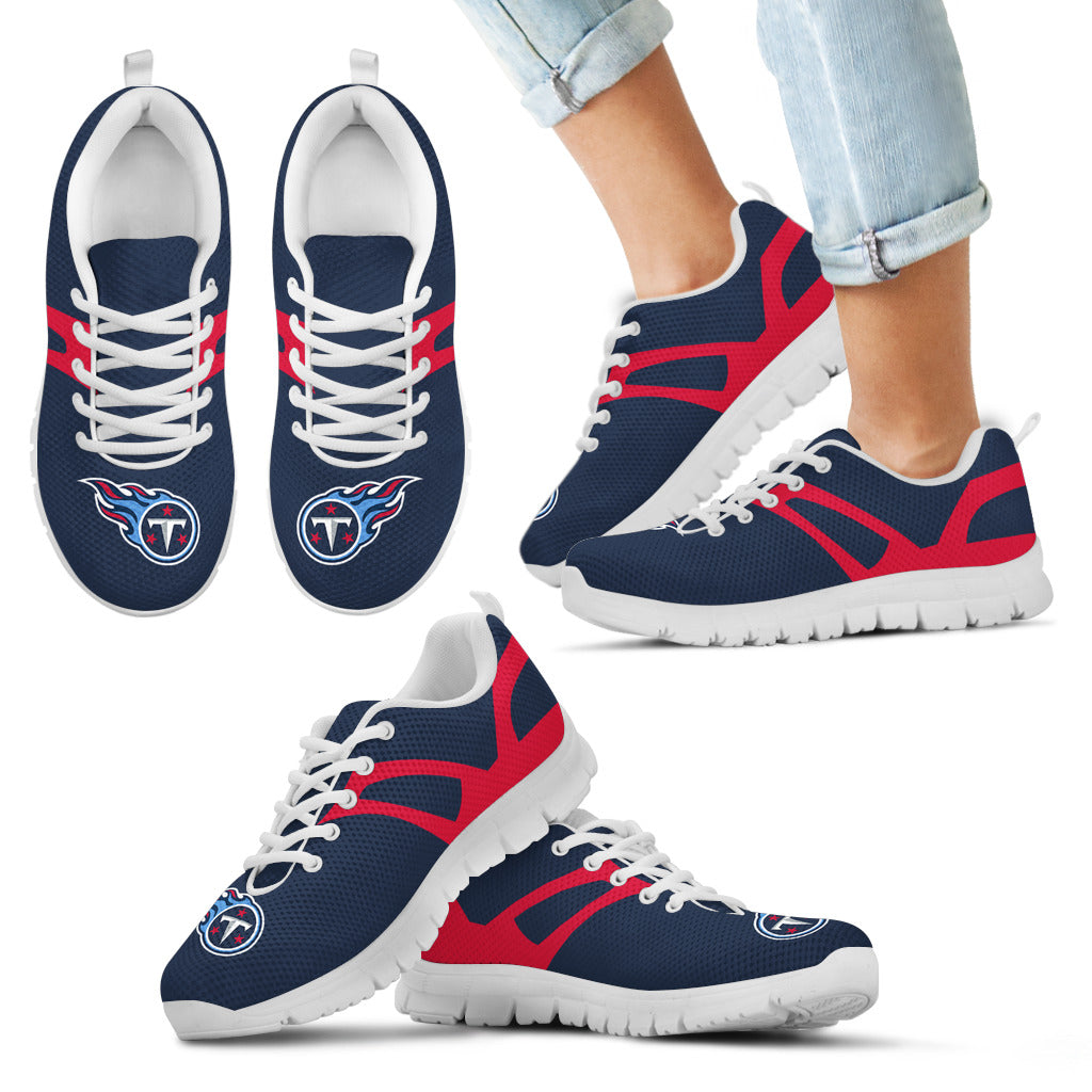 Line Amazing Bottom Tennessee Titans Sneakers