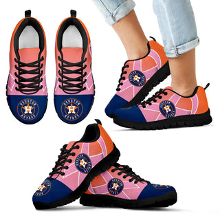 Houston Astros Cancer Pink Ribbon Sneakers