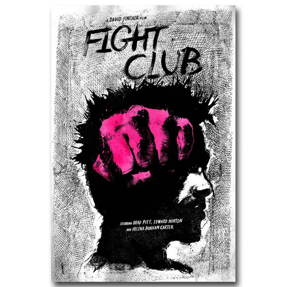 Fight Club | Vintage Art Silk Poster