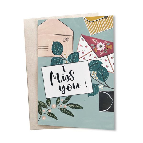 I Miss You | Greeting Card - TheInkBucketstore