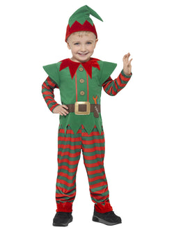 Red and Green Elf Toddler Costume