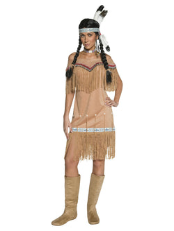 Women's Plus Size Native American Inspired Lady Costume