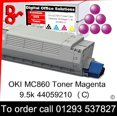 OKI MC860 Toner 44059210 Magenta Premium Compatible Toner Cartridge Quality Guaranteed for sale Crawley West Sussex and Surrey