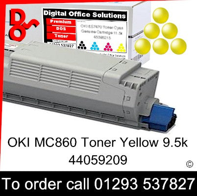 OKI MC860 Toner 44059209 Yellow Premium Compatible Toner Cartridge Quality Guaranteed for sale Crawley West Sussex and Surrey