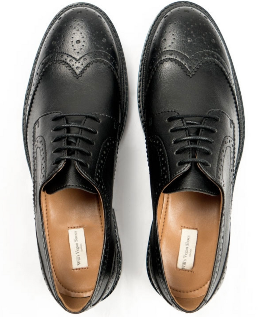 Will's Vegan Shoes Continental Brogues Black