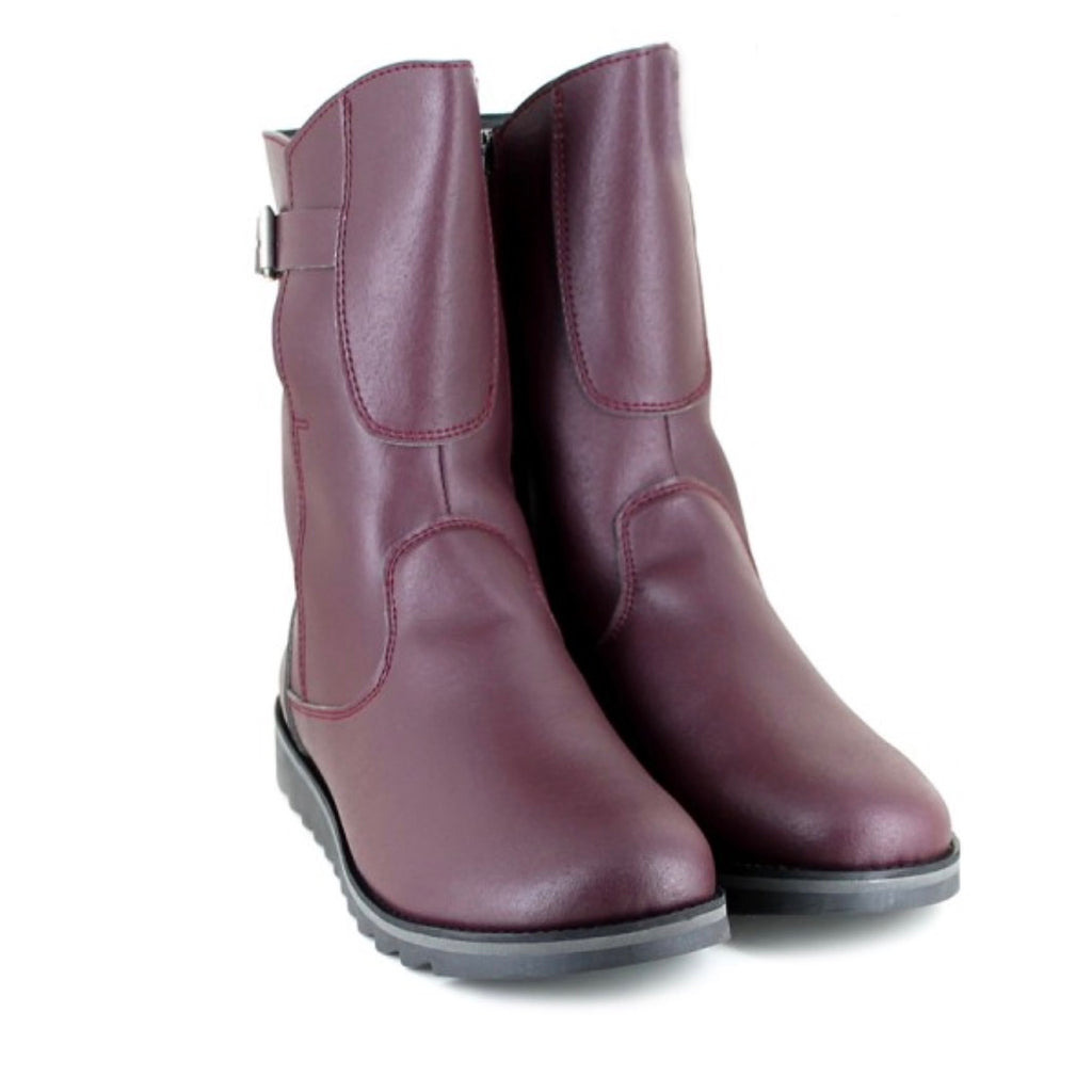 Vegetarian Shoes Action Boot Low Burgundy