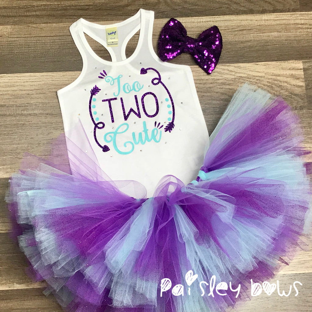 Too Two Cute Second Birthday Tutu Set