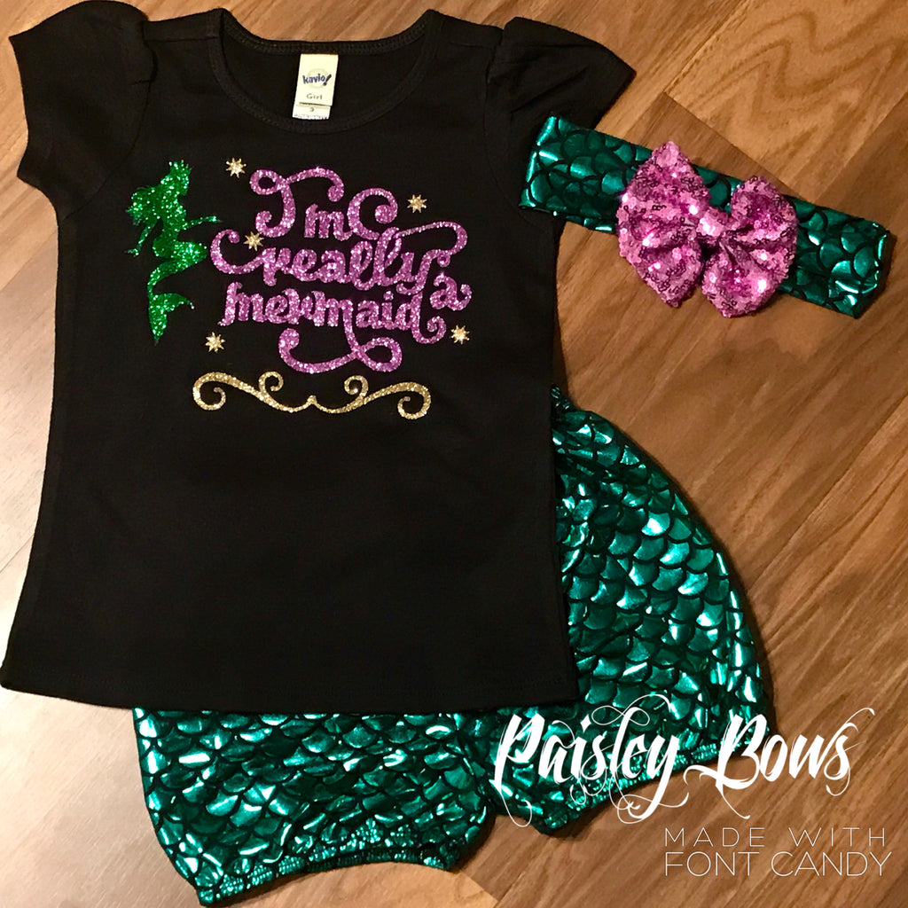 I'm Really A Mermaid - Paisley Bows