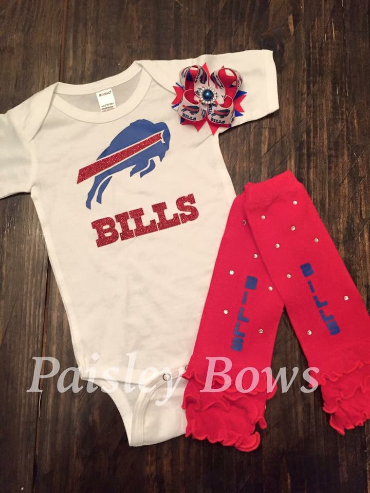Bills Football Outfit - Paisley Bows
