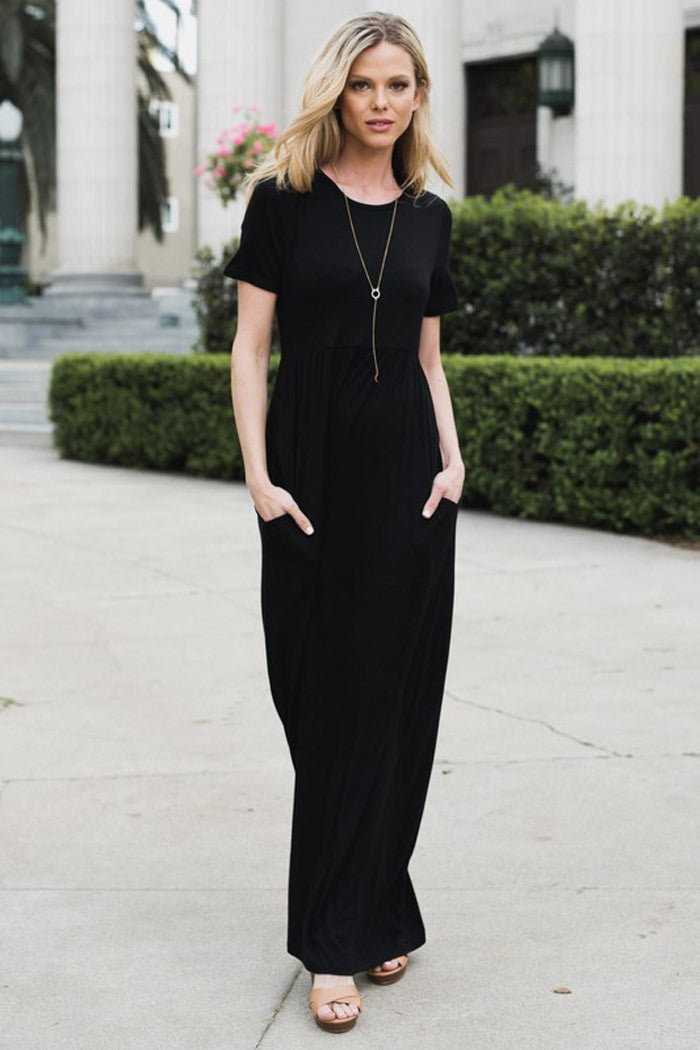 Solid Daily Maxi Dress - maxi - GOZON