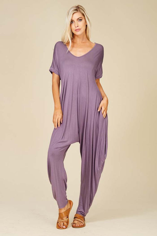 Sofia Harem Jumpsuits : Purplish