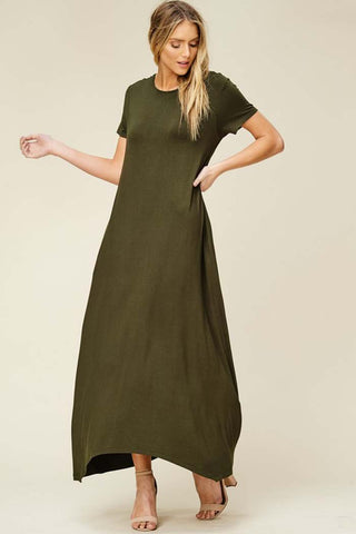 Tess Loose Maxi Dress : Black