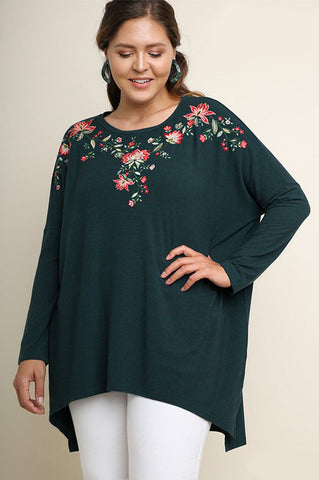 Hazel Animal and Floral Top : Mint