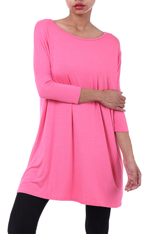 Round Neck Tunic Top