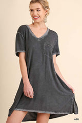 Emerson Washed Tee Dress : Peacock