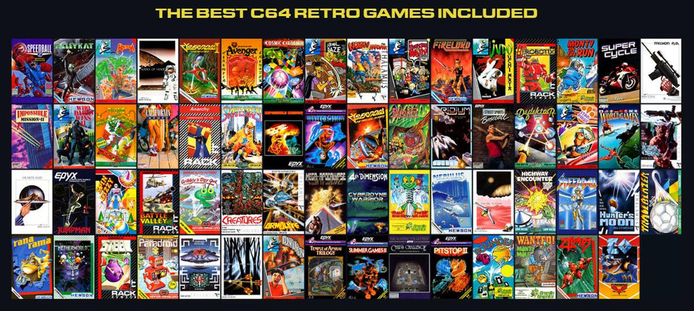 C64 list of included games