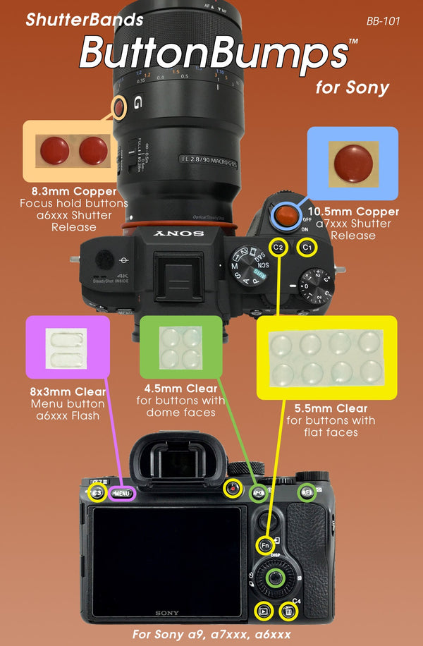 ShutterBands ButtonBumps for Sony E-Mount