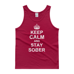 Keep Calm and Stay Sober Men's Tank Top
