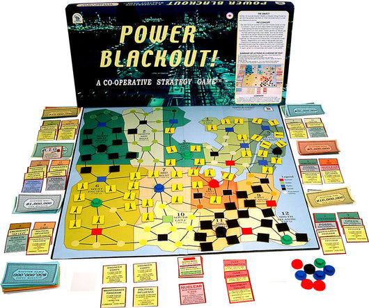 Power Blackout! Game with Board, Box and Pieces Displayed