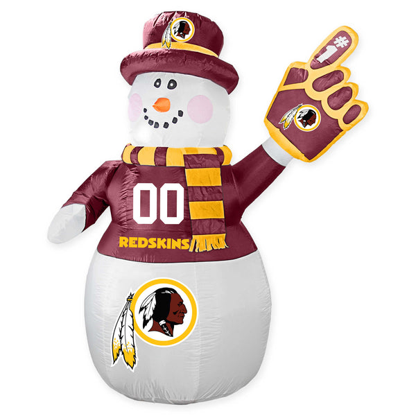 Washington Redskins NFL Inflatable Snowman 7' - Fan Shop TODAY