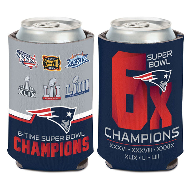 New England Patriots 6 Time Super Bowl Champions Can Cooler - Fan Shop TODAY