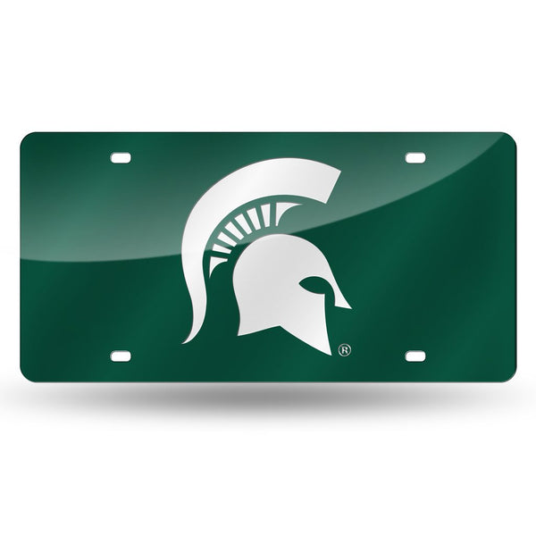 Spartans NCAA Mirror License Plates (Green) - Fan Shop TODAY