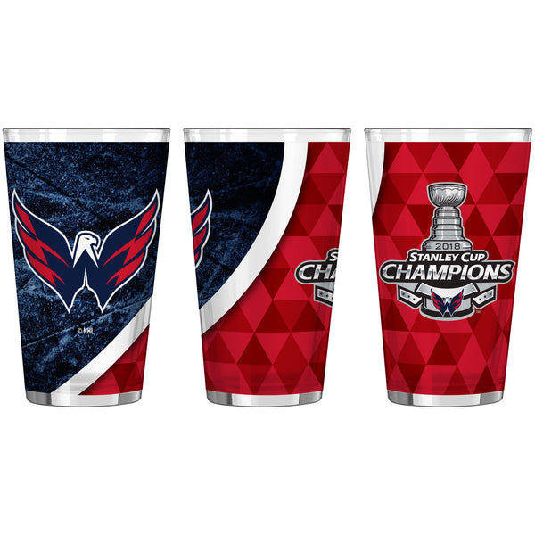 Washington Capitals 2018 NHL Stanley CUP Champions 16oz. Sublimated Pint Glass - Fan Shop TODAY