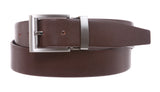 Men's 1 1/4 Inch (34 mm) Top Grain Cowhide Plain Leather Belt with Nickel Free Clamp Buckle