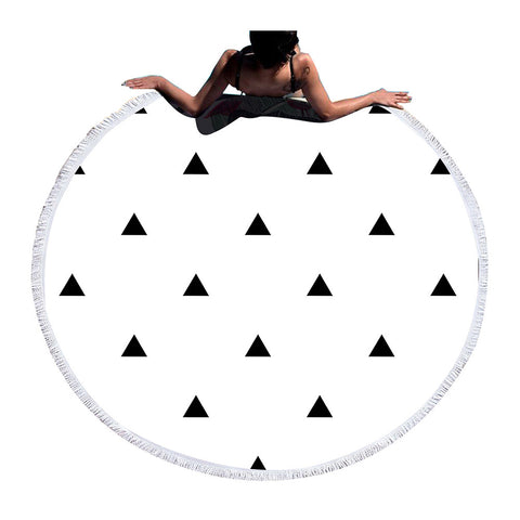 BeddingOutlet Large Round Beach Towel Bath Towel for Adults Summer Toalla Tassel Tapestry Serviette De Plage