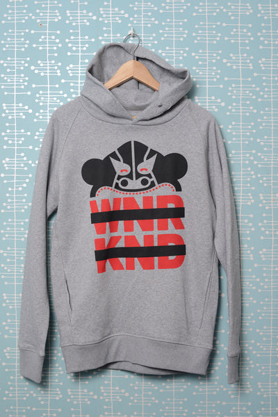 BUSK x WNRKND Hoodie cream heather grey