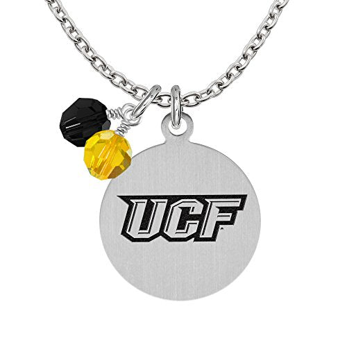 Central Florida Knights Necklace With Round Charm and Crystal Accents - DealsAmazingDeals.com
