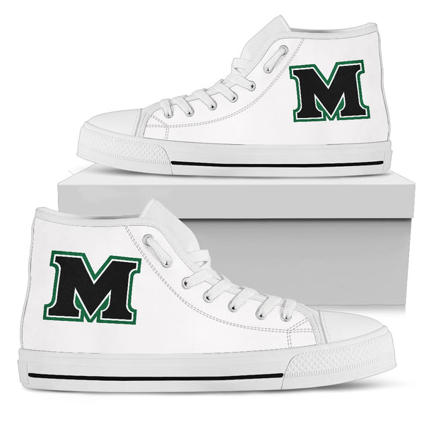 Mooreville Troopers  White High Top Shoe