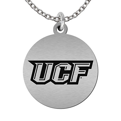 Central Florida Knights Round Stainless Steel Necklace - DealsAmazingDeals.com