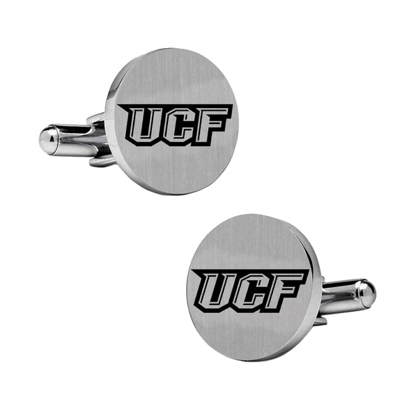 Central Florida UCF Cufflinks | Stainless Steel Round Cufflinks - DealsAmazingDeals.com