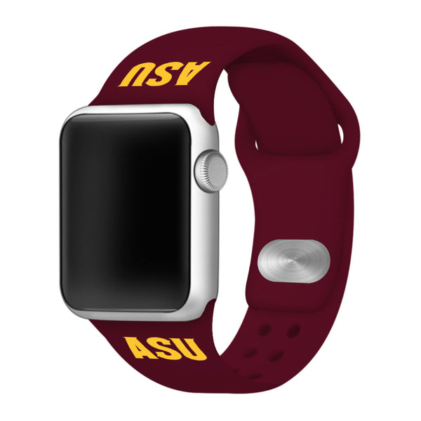 Arizona State Sun Devils Silicone Sport Band for Apple Watch - DealsAmazingDeals.com