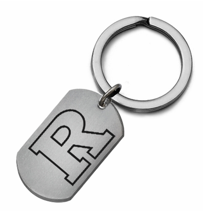 Rutgers Scarlett Knights Stainless Steel Key Ring