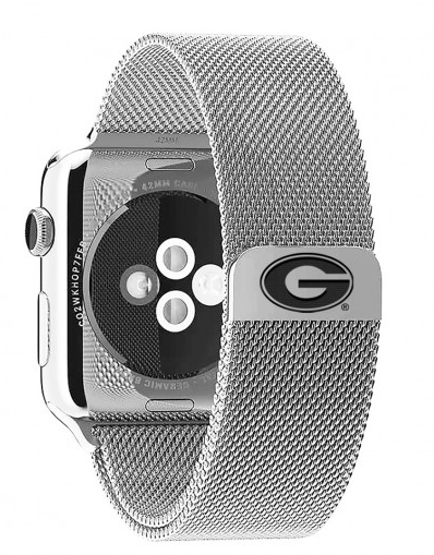 Georgia Bulldogs Stainless Steel Replacement Apple Watch Band