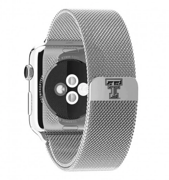 Texas Tech Stainless Steel Replacement Apple Watch Band